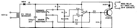 Simple Resistance Ratio Detector Circuit Diagram