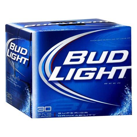 bud light 30 pack price walmart bud light beer 30pk 12oz cans target