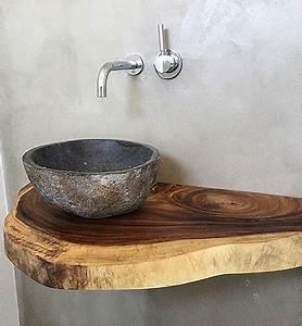 Exklusive Waschtische Bad : ob treibholz rustikales altholz oder lebhafte waschtische aus massivholz mit baumkante hier ~ Markanthonyermac.com Haus und Dekorationen