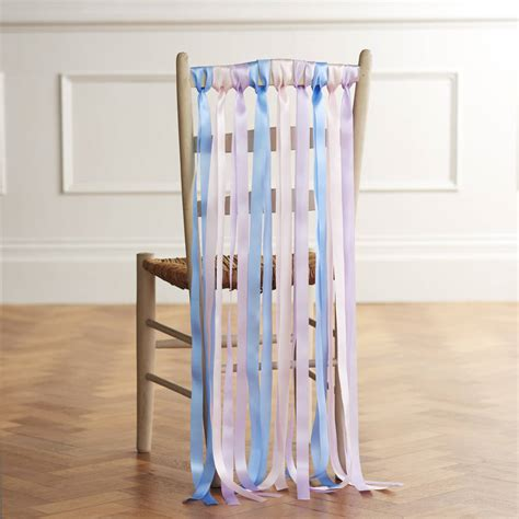 Wedding Chair Ribbons In Summer Pastels By Just Add A
