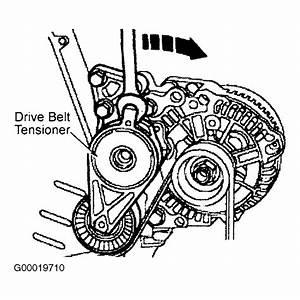 2000 Volkswagen New Beetle Serpentine Belt Routing And