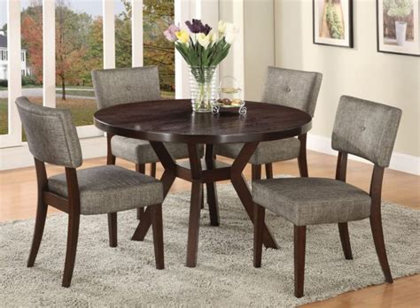 ls plus dining chairs furniture round dark wood dining table with flower