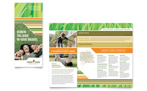 lawn care mowing brochure template word publisher