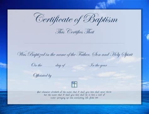 Baptism Certificate Template Pdf by Baptism Certificate For Free Formtemplate
