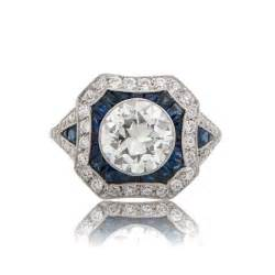 estate jewelry engagement rings 1 67ct estate and sapphire engagement ring