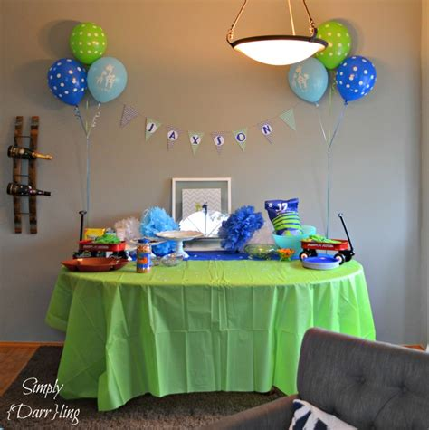 Baby Shower Blue And Green Decorations - a blue and green baby shower simply darr