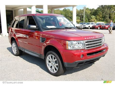 red land rover 2008 rimini red metallic land rover range rover sport hse