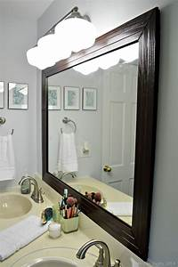 frames for mirrors FRAMED BATHROOM MIRROR Mad in Crafts