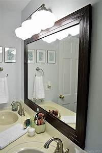 frame a mirror FRAMED BATHROOM MIRROR - Mad in Crafts