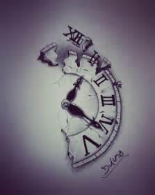 Broken Clock Tattoo Drawings