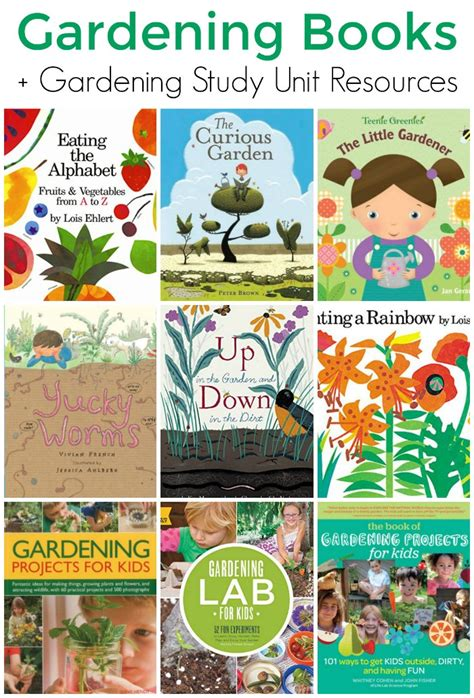 picture gardening books for gardening unit study 974 | Gardening Books for Kids