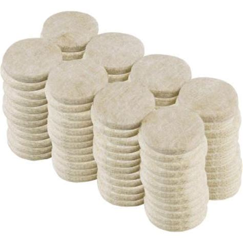 Felt Pads For Hardwood Floors Home Depot by Everbilt 1 In Beige Heavy Duty Self Adhesive Felt Pads