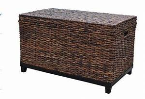 brown wicker storage trunk coffee table thresholdhttp With rattan trunk coffee table