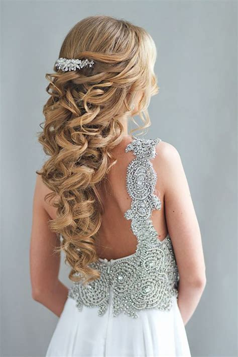36 Half Up Half Down Wedding Hairstyles Ideas Wedding