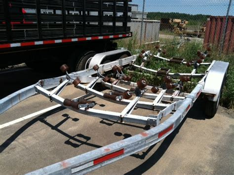 Boat Trailer Parts Plymouth by 2 Tandem Axle Roller Trailers For Sale Massachusetts The