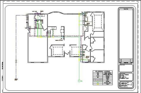 plumbing blueprints pictures residential plumbing drawings images