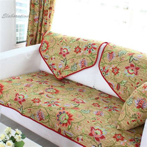 cotton slipcover pastoral floral print funda sofa cushion sectional couch sofa covers overtrek