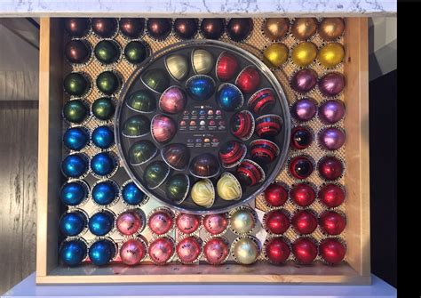 We do not recommend storing our beverages in a refrigerator or freezer as they will absorb odors from the atmosphere. How do you store your pods? Here's my coffee addiction drawer. : nespresso