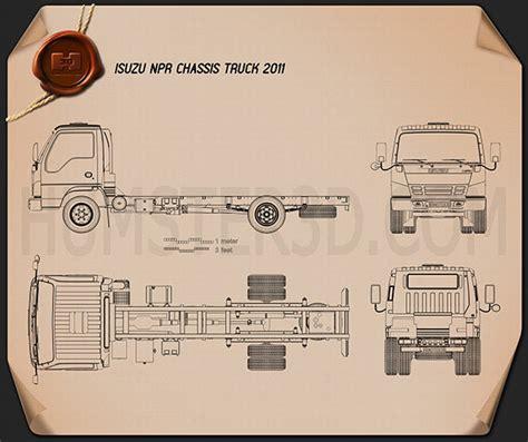 isuzu npr chassis  blueprint humd