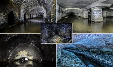 stunning pictures show network  victorian storm drains
