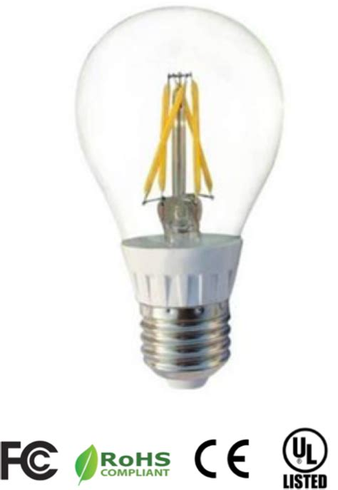 5 watt a19 filament type dimmable led bulb
