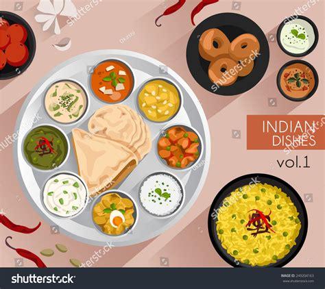 illustration cuisine food illustration indian food vector illustration stock vector 249204163