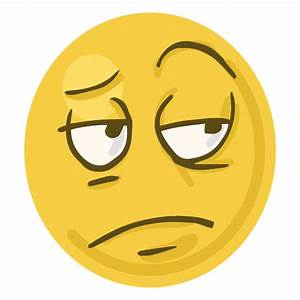 Bored face emoji - Transparent PNG & SVG vector