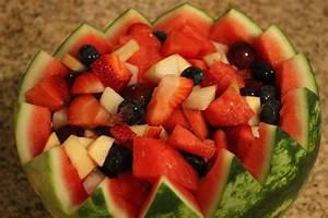 Danette's Recipes: Fruit Salad in a Watermelon Bowl