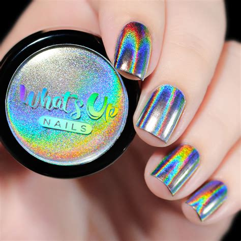 whats  nails holographic powder picture polish
