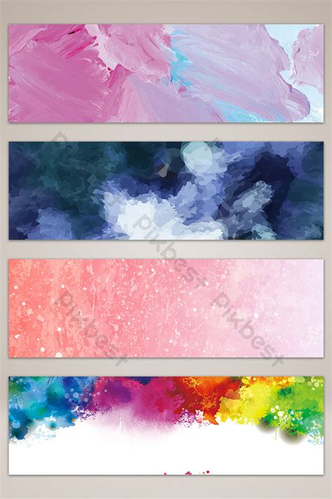 Oil painting texture background banner Backgrounds PSD