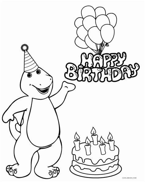 Happy Birthday Coloring Pages To Print at GetColorings com