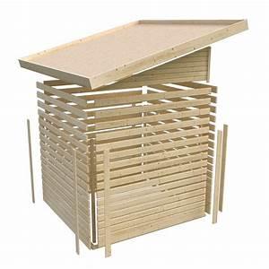 Toit En Bois : abri toit plat 9 24m en bois vitrifi gris 19mm tinkenau ~ Melissatoandfro.com Idées de Décoration