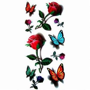 Tatouage De Rose : tatouage rose tatouage papillon tatouage ephemere ~ Melissatoandfro.com Idées de Décoration