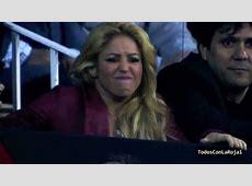 Shakira reaction seeing Gerard Pique [HD] Barcelona 0