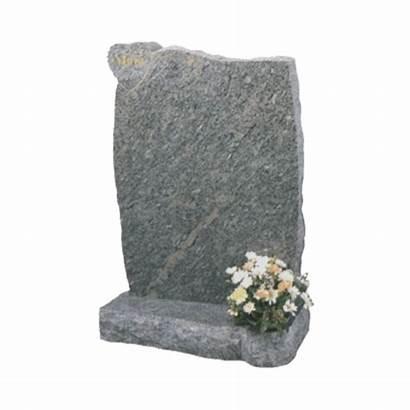 Granite Headstone Grey Memorial Base Heart Shaped