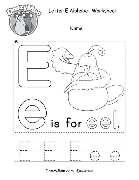 beautiful letter e worksheets 4 drawing dawsonmmp