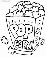 Popcorn Coloring Pages Printable Box Drawing Food Sheets Kernel Template Bildresultat Foer Sketch Snack Google Sheet Print Turtle Container Se sketch template