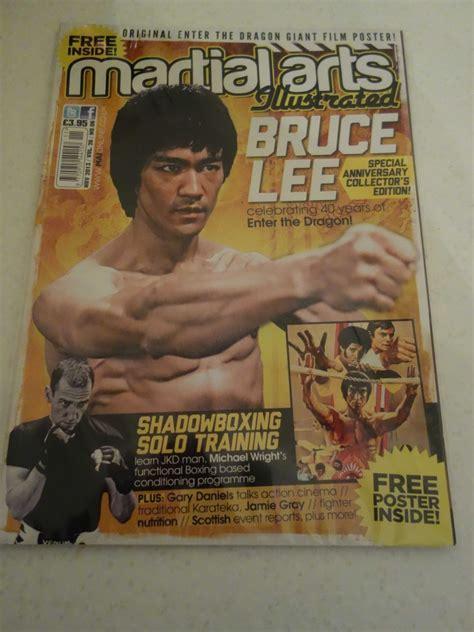 bruce lee martial arts illustrated  poster uk