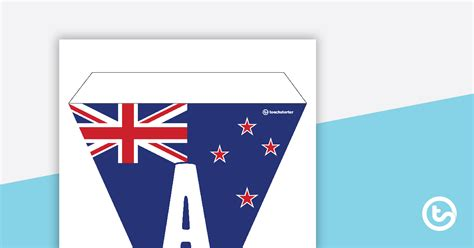zealand flag letters  number bunting teaching