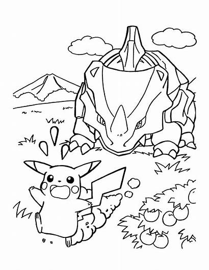 Pokemon Coloring Ausmalbilder Kleurplaten Kleurplaat Pikachu Coloriage