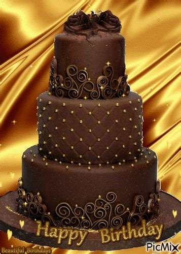 chocolate happy birthday cake pictures   images