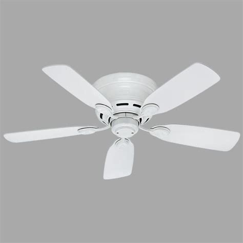 low profile white ceiling fan low profile 42 in indoor snow white ceiling fan 51059