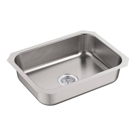 sterling kitchen sinks sterling mcallister undermount stainless steel 24 in 2513