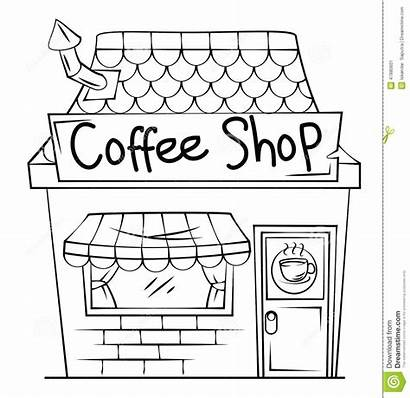 Clipart Coffee Restaurant Building Clip Vector Grocery