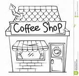 Clipart Coffee Toy Laden Bohnenkaffee Restaurant Cafe Building Plan Kaffeeladen sketch template