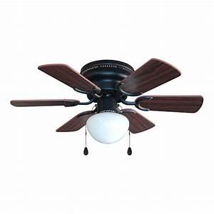 Oil rubbed bronze quot hugger ceiling fan w light kit