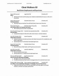 Real Estate Specific Resume