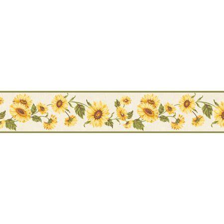 RoomMates Sunflower Wallpaper Border - Walmart.com