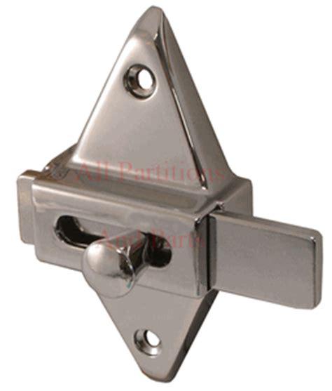 restroom stall door latch diamond shape  bolt latch