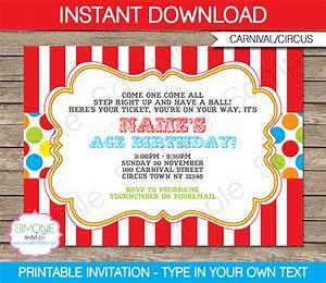 Carnival Invitation Template Carnival Invitations